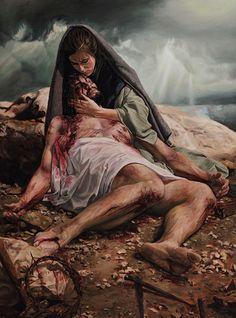Nossa Senhora das Dores ou da Piedade (com o Corpo de Jesus em seus braços).