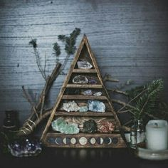 Moon phases, gems, geodes and green witchcraft.