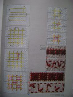 Hand Embroidery Videos, Embroidery Patterns, Kutch Work, Blackwork, Cross Stitch Embroidery, Folk Art, Burlap, Weaving, Bullet Journal