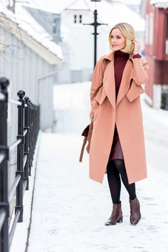 burgundy + black... with peach coat