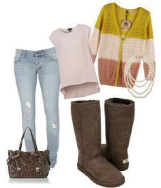 #UGG #Boots,#cheap #ugg, #fashion #ugg, #SHEEPSKIN #UGG #BOOTS, Classic Tall UGG boots in Chocolate &lovely outfit