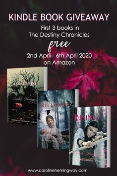 GIVEAWAY: Get my first 3 books in The Destiny Chronicles free on Kindle for 5 days only. Great reading for beating Coronavirus quarantine boredom.