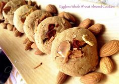 Chhapan Bhog: Eggless Whole Wheat and Almond Cookies
