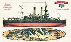 Acorazado Almirante Ushakov 1895, hundido en la Batalla de Tsushima en 1905