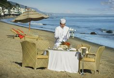 """Escape to Xanadu"" three-course lunch prepared and served by a Peninsula page. #Malibu #fun #beach #surf #California #PenAcademy"