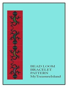 For sale is the Bead Loom Bracelet Gecko Lizard Play Pattern in PDF format.    Gecko is a symbol of wisdom, agility and adaptability; the
