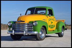 Chevrolet 3100 Pick-Up Truck ~ John Deere◆: Hot Rod Trucks, Gm Trucks, Cool Trucks, Diesel Trucks, Dually Trucks, Lifted Trucks, Vintage Pickup Trucks, Classic Chevy Trucks, Classic Cars