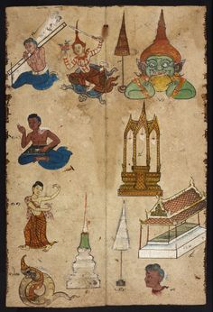 Thai divination manual. British Library, Or. 4830. This divination manual (phrommachat) from central Thailand contains horoscopes based on the Chinese zodiac. This manuscript from the 19th century includes illustrated descriptions of lucky and unlucky matches of couples and illustrations of possible fates for people born in the year.