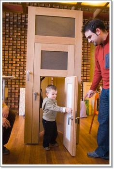 Kids sized door! Kids love to have things in their own size and this door works for toddlers, kids and adults is perfect!