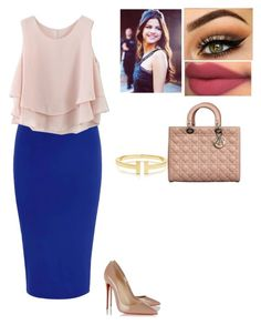 """""""Untitled #182"""" by cassygirl57 ❤ liked on Polyvore featuring Glamorous, Chicwish, Christian Louboutin, Tiffany & Co. and Christian Dior"""