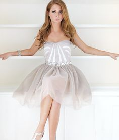 Lipsy V I P Jewelled Waist Prom Dress