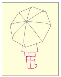 How to Draw an Umbrella · Art Projects for Kids School Art Projects, Projects For Kids, Crafts For Kids, Autumn Crafts, Autumn Art, Wall Painting Decor, Drawing School, Easy Canvas Art, Umbrella Art