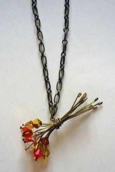 Great Idea..crystal bouquet pendant