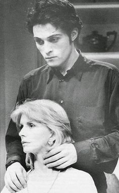 "Jane Asher and Rufus Sewell in ""Making It Better"" which originally opened at the Hampstead Theatre on February 11, 1992 and later moved to the Criterion on October 21, 1992. From Lady Jane group at yahoo."