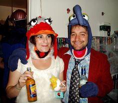 camilla the chicken and gonzo costume!?