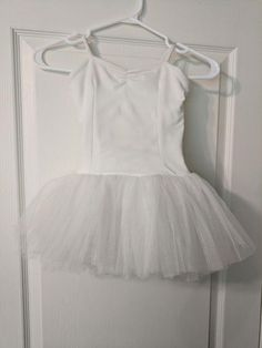 Simple white tutu you could add your own touches to! Three layers of white netting on skirt. Comes with a Little Red Riding Hood jacket for a stage costume or demi-character ballet dance. White Tutu, Ballet Tutu, Ballet Costumes, Red Riding Hood, Little Red, Hooded Jacket, Bodysuit, Children, Skirts