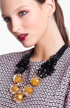 Marni Beaded Ribbon Necklace #Nordstrom #Designer
