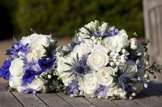 bouquet ideas (right hand side one with Scottish thistles)