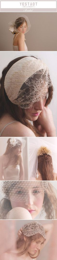Ultra chic and feminine wedding veils  by Yestadt Millinery