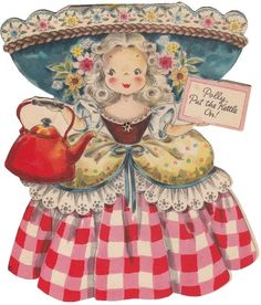 polly put the kettle on. I had the whole set of these cards when I was little