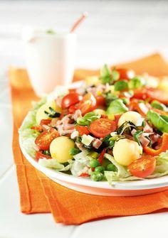Lämmin perunasalaatti | Salaatit | Pirkka #food #salads Nut Free, Dairy Free, Salad Recipes, Dessert Recipes, Finnish Recipes, Superfood Salad, Food N, Copycat Recipes, Bon Appetit