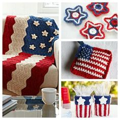 Free patriotic crochet patterns. . 4th of July List of Free 4th of July Crochet Patterns! Lovely crochet projects of red, white and blue! God Bless America