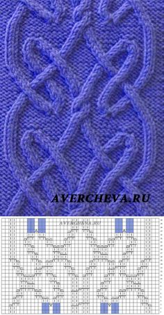 cable knit pattern with chart Best knitting pillow tutorial yarns ideas Cable Knitting Patterns, Knitting Stiches, Knitting Charts, Lace Knitting, Knitting Designs, Knitting Projects, Crochet Stitches, Crochet Patterns, Celtic Patterns