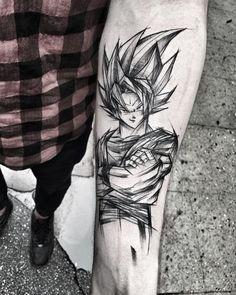 """3,683 Me gusta, 44 comentarios - Inez Janiak (@ineepine) en Instagram: """"Wszyscy kochają Goku, a ja wciąż czekam na Vegetę #wowtattoo #blacktattoomag #blacktattooart…"""""""