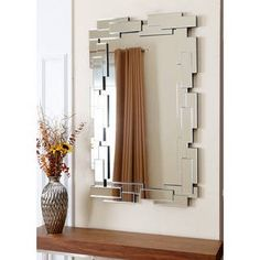 With a retro rectangle frame, this wall mirror will accent your home beautifully. Made of durable wood and glass, this mirror features a silver-tone finish and frame design. Silver Wall Mirror, Round Wall Mirror, Mirror Mirror, Living Room Mirrors, Mirror Mosaic, 3d Texture, Home Decor Outlet, Home Decor Furniture, Decoration