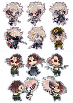 Chibis of Raiden and Vamp! If you notice in the Raiden chibi section on the right hand, on the right side, there is a chibi of Raikov! Raiden Metal Gear, Metal Gear Games, Metal Gear Solid Series, Metal Gear Rising, Gear Art, Dope Art, Killua, Mobile Wallpaper, Live Action