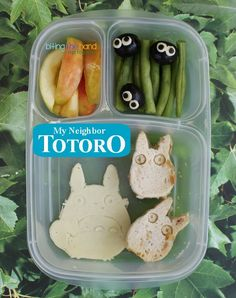 totoro theme school lunch food