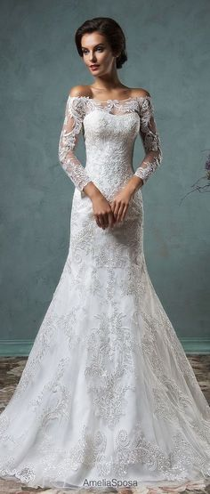 Amelia Sposa 2016 Wedding Dress / http://www.deerpearlflowers.com/lace-wedding-dresses-and-gowns/2/