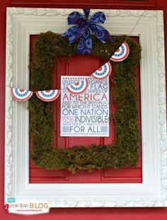 DIY Patriotic Door Decorations