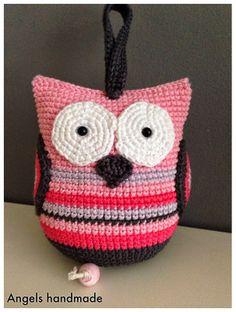 Muziekuiltje gehaakt. crochet music owl