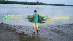 Creating the First Easy To Follow 7 Step Online video Course on how to Build an ecofriendly plastic PET Bottle stand up paddle board. First Testing Scene June 2014