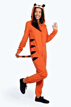 Jade Tiger Novelty Onesie at boohoo.com