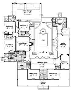 House Floor Plan With Indoor Pool on italian interior design ideas