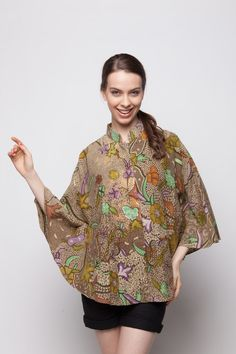 Batwing Blouse Light Brown