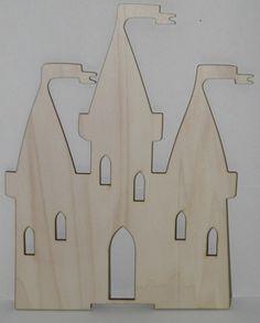 Ξύλινο διακοσμητικό κάστρο για ζωγραφική ή decoupage