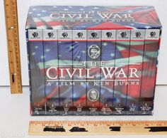 THE CIVIL WAR A FILM KEN BURNS 9 VHS VIDEO TAPE BOXED SET FROM PBS TV SERIES NEW