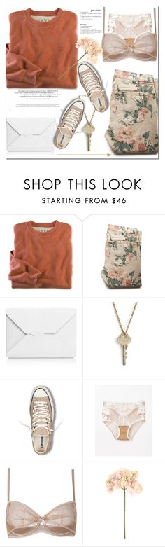 """Untitled #600"" by es-vee ❤ liked on Polyvore featuring moda, Current/Elliott, J.W. Anderson, The Giving Keys, Converse, For Love & Lemons, Agent Provocateur e Sia"