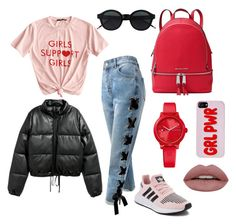 """""""."""" by elliefox28 on Polyvore featuring Sans Souci, adidas, MICHAEL Michael Kors and Tommy Hilfiger"""