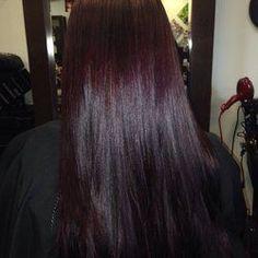 deep violet chocolate brown hair color - Google Search Hair Color And Cut, Hair Color Dark, Brown Hair Colors, Dark Hair, Violet Brown Hair, Dark Burgundy Hair, Chocolate Cherry Hair Color, Cherry Hair Colors, Black Cherry Hair Color