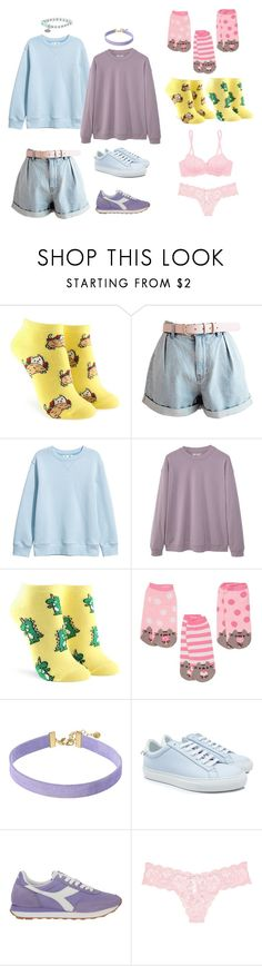 """""""Random #4"""" by random-spacepal ❤ liked on Polyvore featuring Forever 21, MANGO MAN, Pusheen, Vanessa Mooney, Givenchy, Diadora and Cosabella"""
