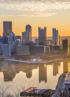 Pittsburgh, Pennsylvania - Shadows on the River