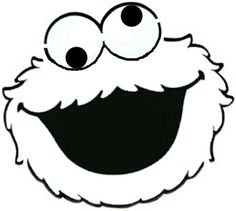 Cookie Monster black/white face