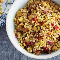 Warm Corn Chowder Salad with Bacon and Cider Vinegar Recipe - Brent Ridge, Josh Kilmer-Purcell | Food & Wine