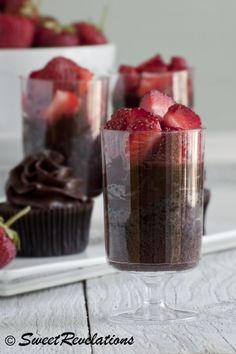 Cupcake trifle served in plastic wine cups (which you can get at the dollar store). Smart!