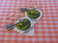 Beatles Green Apple Guitar Pick Earrings by TheBirdsBizarre, $13.50