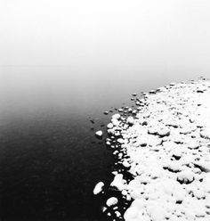 "Michael Kenna, ""SNOW ON PEBBLES, TOYA LAKE, HOKKAIDO, JAPAN, 2009"""